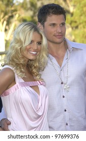 JESSICA SIMPSON & NICK LACHEY at the Teen Choice Awards in Hollywood. Aug 2, 2003  Paul Smith / Featureflash
