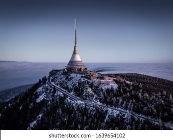 Jested is a mountain in the north of the Czech Republic, southwest of Liberec. With a promise of 517 meters, it is the eleventh most prominent mountain in the Czech Republic. - Shutterstock ID 1639654102