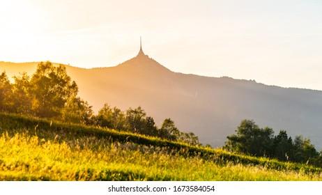 Jested Mountain on sunny summer day. Liberec, Czech Republic. - Shutterstock ID 1673584054