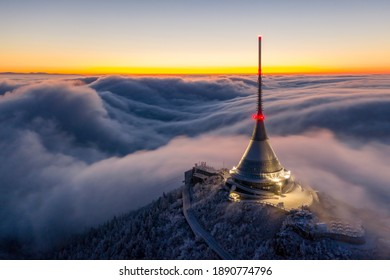 Jested in sea from clouds - Shutterstock ID 1890774796