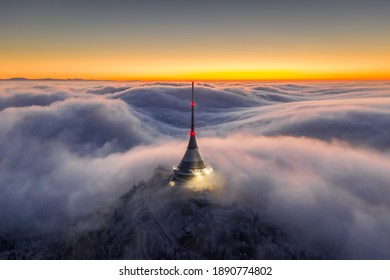 Jested in sea from clouds - Shutterstock ID 1890774802