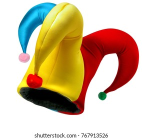 Jester hat isolated