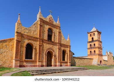 Jesuit Mission church in San Jose de Chiquitos, Bolivia