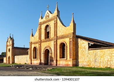 Jesuit Mission church in San Jose de Chiquitos, Bolivia
