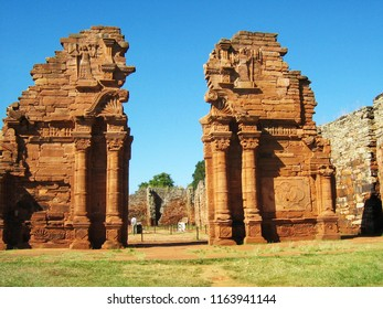 The Jesuit Ruins of San Ignacio Miní in Misiones, Argentina declared a World Heritage Site by Unesco in 1984