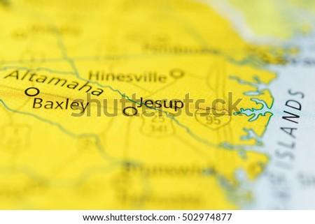 Map Of Jesup Georgia.Jesup Georgia Usa Stock Photo Edit Now 502974877 Shutterstock
