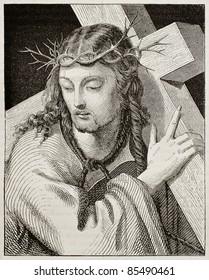 jesus carrying cross images stock photos vectors shutterstock