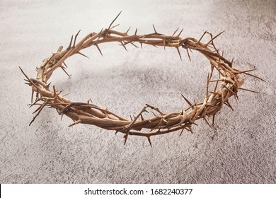 Jesus Christ Crown of thorns. Religion background. Easter symbol. Crucifixion Of Jesus Christ.