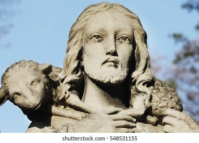 Jesus Christ - the Good Shepherd (art composition, details)