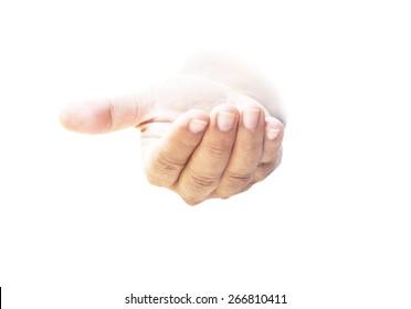 Jesus christ hand symbol for evangelism, mercy, faith and forgiving.