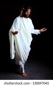 Jesus Christ of Nazareth reborn isolated on black