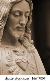Jesus Christ, sepia-toned