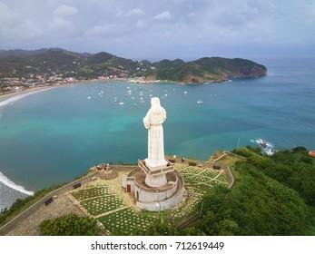 Jesus christ statue in San Juan Del Sur Nicaragua resort