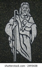 Jesus the Good Shepherd Etching