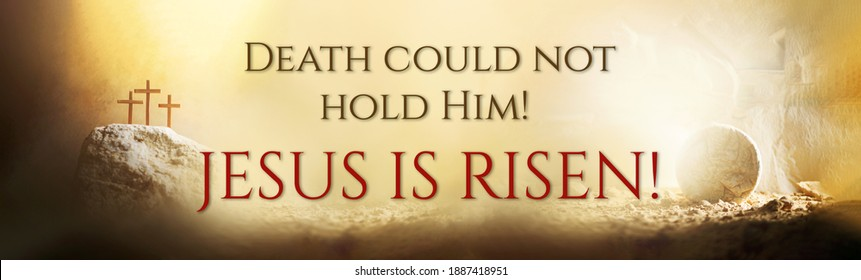 Jesus life chronology. Christian Easter concept. Born to Die, Born to Rise. Three crosses and empty tomb background. Jesus reason for season. Salvation, Messiah, Emmanuel, God with us - Shutterstock ID 1887418951