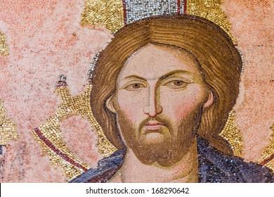 Jesus Mosaic in Istanbul Chora Church