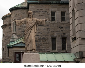 Jesus of Nazareth statue outside