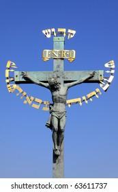 Jesus on the Charles Bridge in Prague