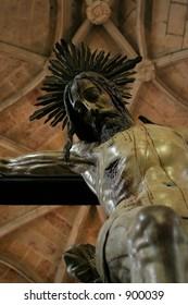Jesus on a cross in Lisbon, Portugal