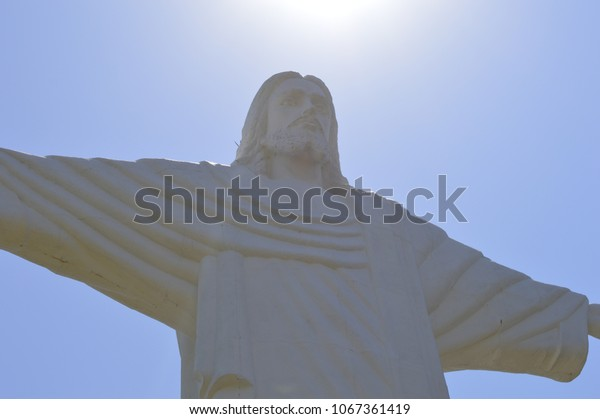 jesus on the top of the mountain