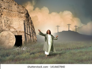 Jesus Resurrected from the Tomb
