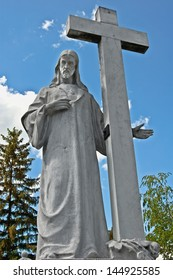 Jesus sculpture / This Jesus sculpture is in the cemetery of Kom�¡rom, Hungary.