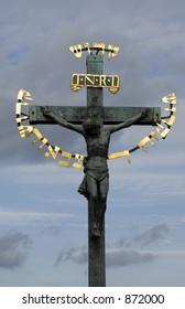 Jesus statue in Prague, Charles bridge