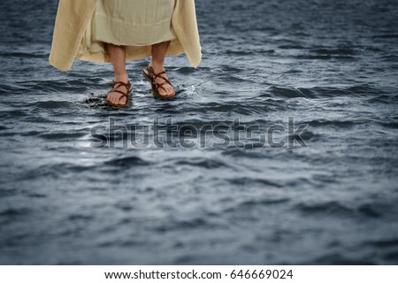 Jesus walking on the waters