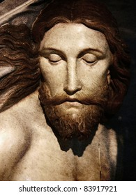 jesus wooden sculpture