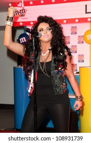 Jesy Nelson of Little Mix performing an exclusive gig to launch The Union Jack pack of M&Ms, at the M&M Store, London. 23/05/2012 Picture by: Alexandra Glen / Featureflash