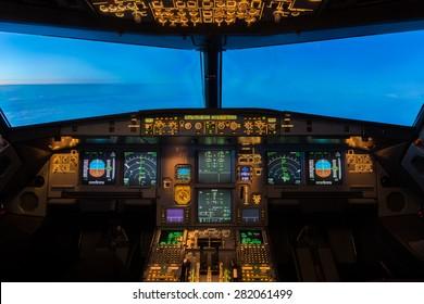 Jet Aircraft Cockpit.