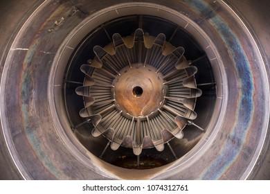 Jet engine close up photo