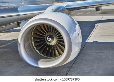 Jet engine of a new aircraft