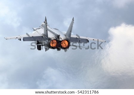 Jet Fighter Taking Off Afterburner Stock Photo Edit Now 542311786