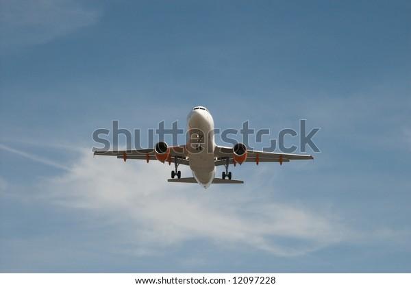 jet over blue sky