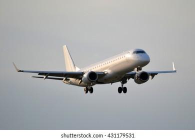 Jet passenger plane - great for topics like aviation, transportation, flying etc.