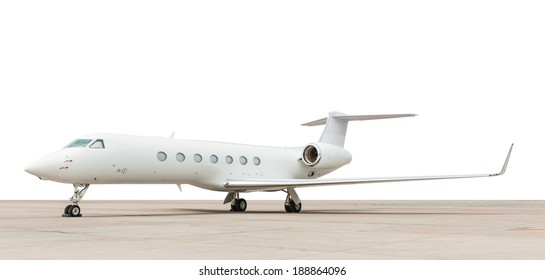 jet plane parking on white background