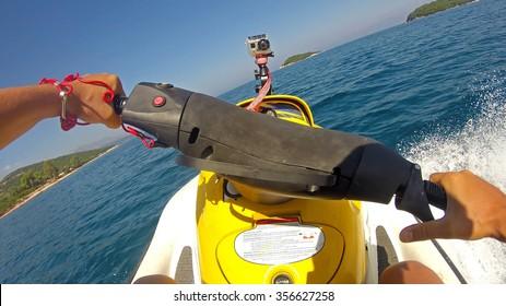 Jet Ski Driving POV