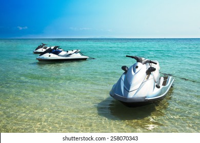 Jet ski on the Beach 1
