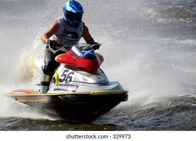 Jet ski stunt action