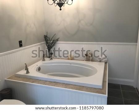 Jet Spa Tub Remodel Sunken Bathtub Stock Photo Edit Now 1185797080