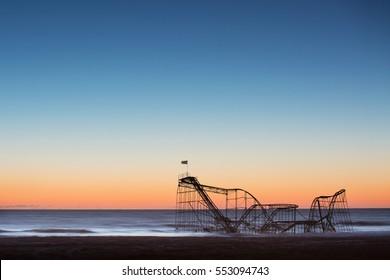 Jet Star Roller Coaster after hurricane sandy