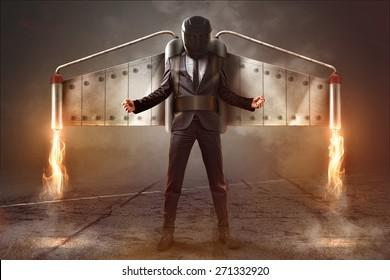 Jetpack Businessman