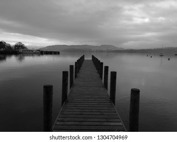 The jetty in Ambleside, an evening stroll.