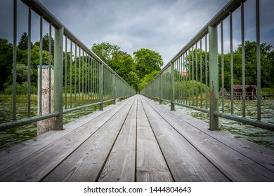 jetty at the Lake Ammersee in Germany
