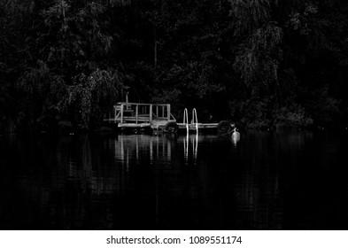 Jetty at Lake Saimaa Lake District