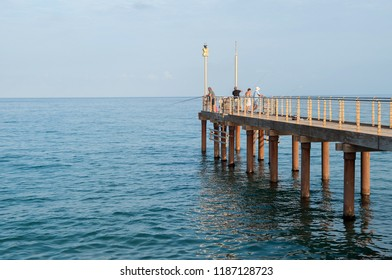 jetty in liguria a laigueglia