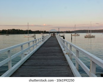 Jetty on Clyde River Batemans Bay Australia