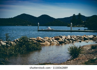Jetty on Hawkesbury River, NSW, Australia