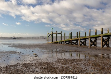 Jetty on Jubilee beach, Southend-on-Sea, Essex, England